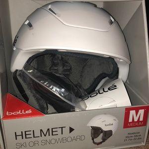 Brand New Bollé White ski/snowboard helmet-w/ tags
